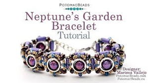How to Bead / Videos Sorted by Beads / Potomax Metal Bead Videos / Neptune's Garden Bracelet Tutorial