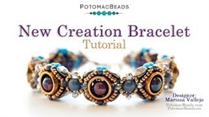 How to Bead / Videos Sorted by Beads / Potomax Metal Bead Videos / New Creation Bracelet Tutorial