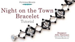 How to Bead Jewelry / Videos Sorted by Beads / Potomac Crystal Videos / Night on the Town Bracelet Tutorial