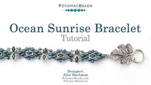 How to Bead Jewelry / Videos Sorted by Beads / Potomax Metal Bead Videos / Ocean Sunrise Bracelet Tutorial