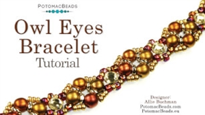 How to Bead / Videos Sorted by Beads / All Other Bead Videos / Owl Eyes Bracelet Tutorial