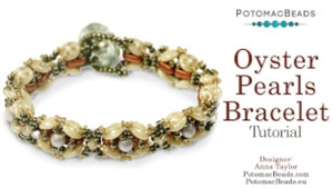 How to Bead / Videos Sorted by Beads / CzechMates Bead Videos / Oyster Pearls Bracelet Tutorial