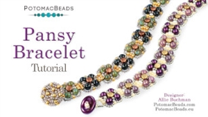 How to Bead Jewelry / Videos Sorted by Beads / All Other Bead Videos / Pansy Bracelet Tutorial