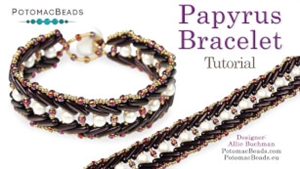 How to Bead Jewelry / Videos Sorted by Beads / All Other Bead Videos / Papyrus 2 Bracelet Tutorial