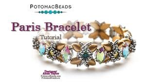 How to Bead Jewelry / Videos Sorted by Beads / Potomac Crystal Videos / Paris Bracelet Beadweaving Tutorial