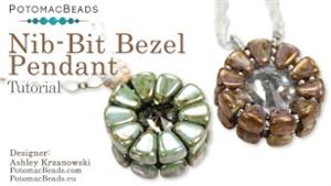 How to Bead Jewelry / Beading Tutorials & Jewel Making Videos / Pendant Projects / Nib- Bit Bezel Pendant Tutorial