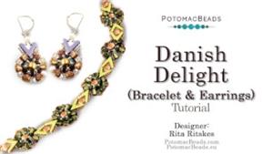 How to Bead Jewelry / Videos Sorted by Beads / AVA® Bead Videos / Danish Delight Bracelet Tutorial