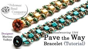 How to Bead / Videos Sorted by Beads / Diamond Shaped Bead Videos / Pave the Way Bracelet Beadweaving Tutorial