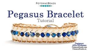 How to Bead / Videos Sorted by Beads / Gemstone Videos / Pegasus Bracelet Tutorial