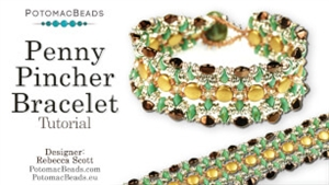 How to Bead / Videos Sorted by Beads / Potomac Crystal Videos / Penny Pincher Bracelet Tutorial