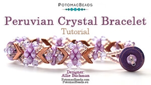 How to Bead Jewelry / Videos Sorted by Beads / Potomax Metal Bead Videos / Peruvian Crystal Bracelet Tutorial