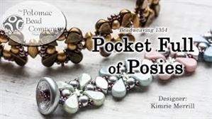 How to Bead Jewelry / Videos Sorted by Beads / IrisDuo® Bead Videos / Pocket Full of Posies Bracelet Beadweaving Tutorial