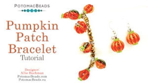 How to Bead Jewelry / Videos Sorted by Beads / Potomac Crystal Videos / Pumpkin Patch Earrings & Bracelet Tutorial