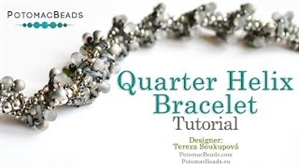 How to Bead / Videos Sorted by Beads / Seed Bead Only Videos / Quarter Helix Bracelet Tutorial