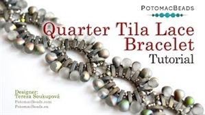 How to Bead / Videos Sorted by Beads / Seed Bead Only Videos / Quarter Tila Lace Bracelet Tutorial
