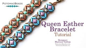 How to Bead Jewelry / Videos Sorted by Beads / WibeDuo Bead Videos / Queen Esther Bracelet Tutorial