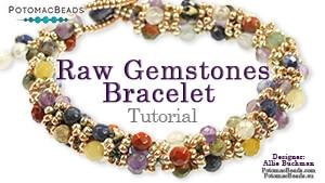 How to Bead Jewelry / Videos Sorted by Beads / Gemstone Videos / RAW Gemstone Bracelet Tutorial