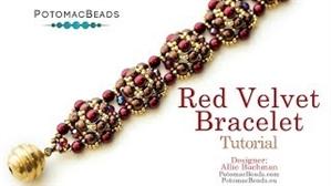 How to Bead Jewelry / Videos Sorted by Beads / RounDuo® & RounDuo® Mini Bead Videos / Red Velvet Bracelet Tutorial