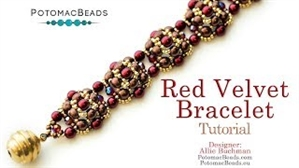How to Bead Jewelry / Videos Sorted by Beads / Potomac Crystal Videos / Red Velvet Bracelet Tutorial