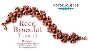 How to Bead / Videos Sorted by Beads / Potomax Metal Bead Videos / Reed Bracelet Tutorial