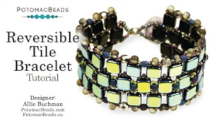 How to Bead / Videos Sorted by Beads / All Other Bead Videos / Reversible Tile Bracelet Tutorial
