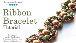 How to Bead Jewelry / Videos Sorted by Beads / Cabochon Videos / Ribbon Bracelet Tutorial