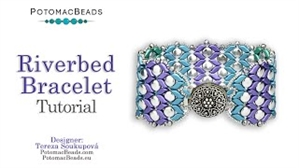 How to Bead Jewelry / Videos Sorted by Beads / Potomac Crystal Videos / Riverbed Bracelet Tutorial