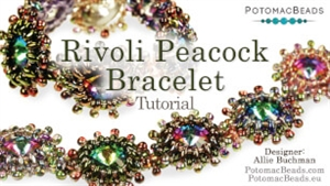 How to Bead Jewelry / Videos Sorted by Beads / SuperDuo & MiniDuo Videos / Rivoli Peacock Bracelet Tutorial