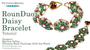 How to Bead Jewelry / Videos Sorted by Beads / RounDuo® & RounDuo® Mini Bead Videos / RounDuo® Daisy Bracelet Tutorial