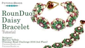 How to Bead Jewelry / Videos Sorted by Beads / SuperDuo & MiniDuo Videos / RounDuo® Daisy Bracelet Tutorial