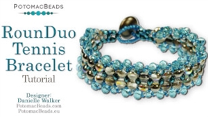 How to Bead Jewelry / Videos Sorted by Beads / Potomac Crystal Videos / RounDuo® Tennis Bracelet Tutorial