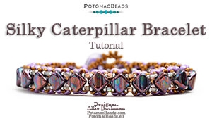 How to Bead / Videos Sorted by Beads / All Other Bead Videos / Silky Caterpillar Bracelet Tutorial