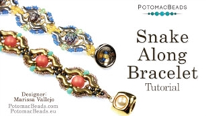 How to Bead Jewelry / Videos Sorted by Beads / Cabochon Videos / Snake Along Bracelet Tutorial
