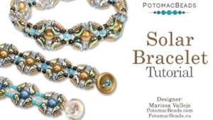 How to Bead Jewelry / Videos Sorted by Beads / ZoliDuo and Paisley Duo Bead Videos / Solar Bracelet Tutorial