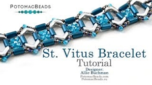 How to Bead Jewelry / Videos Sorted by Beads / Tubelet Bead Videos / St. Vitus Bracelet Tutorial