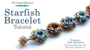 How to Bead / Videos Sorted by Beads / Potomac Crystal Videos / Starfish Bracelet Tutorial