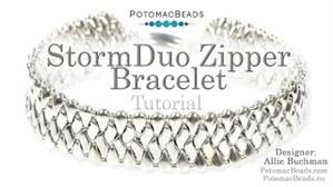 How to Bead Jewelry / Videos Sorted by Beads / StormDuo Bead Videos / StormDuo Zipper Bracelet Tutorial
