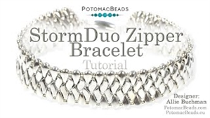 How to Bead / Videos Sorted by Beads / All Other Bead Videos / StormDuo Zipper Bracelet Tutorial