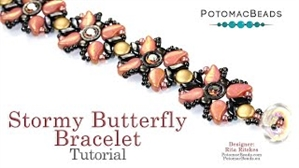 How to Bead Jewelry / Videos Sorted by Beads / ZoliDuo and Paisley Duo Bead Videos / Stormy Butterfly Bracelet Tutorial