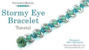 How to Bead Jewelry / Videos Sorted by Beads / StormDuo Bead Videos / Stormy Eye Bracelet Tutorial