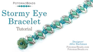 How to Bead Jewelry / Videos Sorted by Beads / RounDuo® & RounDuo® Mini Bead Videos / Stormy Eye Bracelet Tutorial