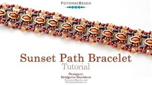 How to Bead / Videos Sorted by Beads / Potomax Metal Bead Videos / Sunset Path Bracelet Tutorial