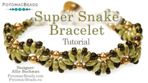 How to Bead / Videos Sorted by Beads / SuperDuo & MiniDuo Videos / Super Snake Bracelet Tutorial
