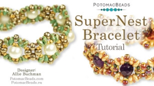 How to Bead / Videos Sorted by Beads / Gemstone Videos / SuperNest Bracelet Tutorial