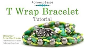 How to Bead Jewelry / Videos Sorted by Beads / RounTrio® & RounTrio® Faceted Bead Videos / T Wrap Bracelet Tutorial