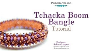How to Bead Jewelry / Videos Sorted by Beads / All Other Bead Videos / Tchacka Boom Bangle Tutorial