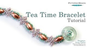 How to Bead Jewelry / Videos Sorted by Beads / Potomax Metal Bead Videos / Tea Time Bracelet Tutorial
