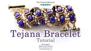 How to Bead Jewelry / Videos Sorted by Beads / Potomac Crystal Videos / Tejana Bracelet Tutorial