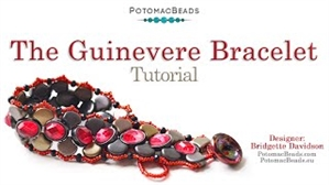 How to Bead / Videos Sorted by Beads / Potomax Metal Bead Videos / The Guinevere Bracelet Tutorial