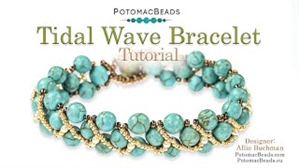 How to Bead / Videos Sorted by Beads / Gemstone Videos / Tidal Wave Bracelet Tutorial